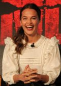 Alicia Vikander attends the 'Tomb Raider' Press Conference in Los Angeles