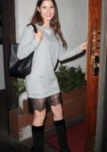 Amanda Cerny spotted arriving at Madeo restaurant in Hollywood, Los Angeles