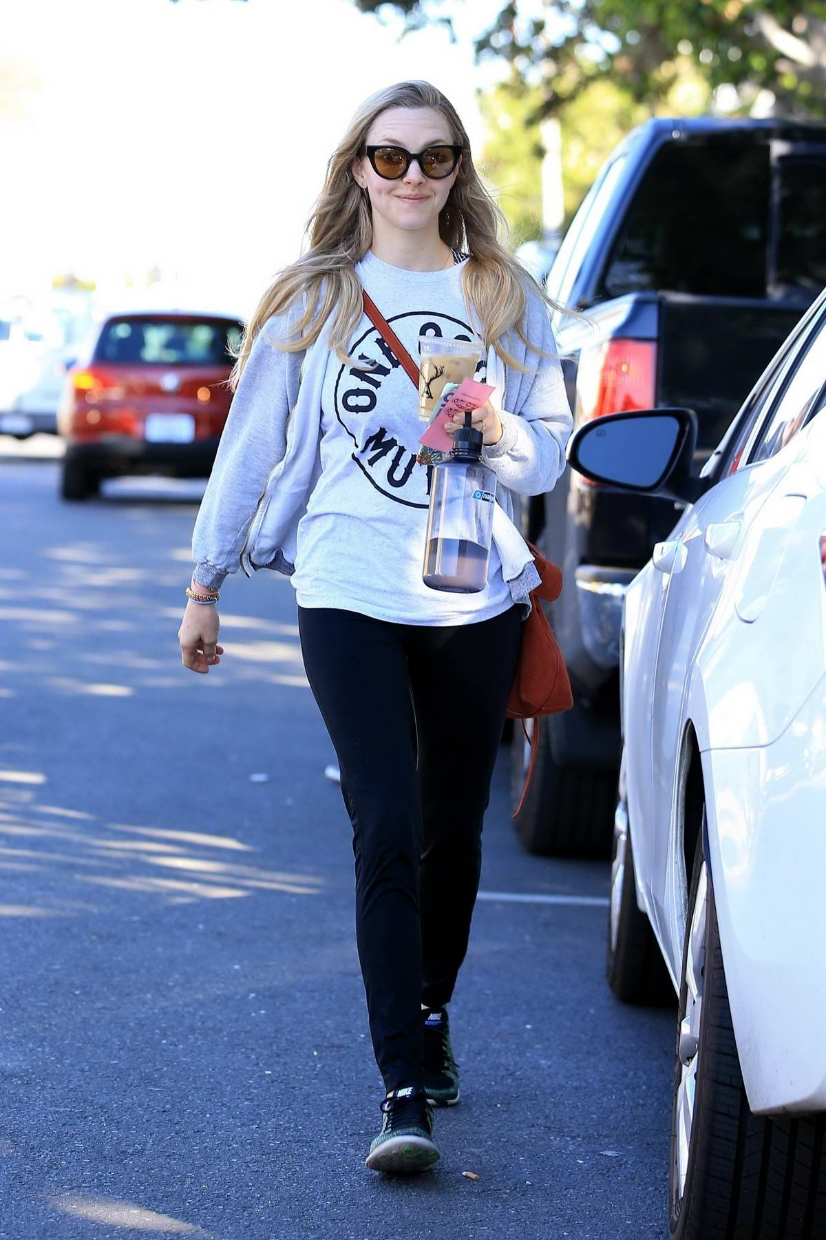 Amanda Seyfried stops by Fred Segal for some shopping in West Hollywood, Los Angeles