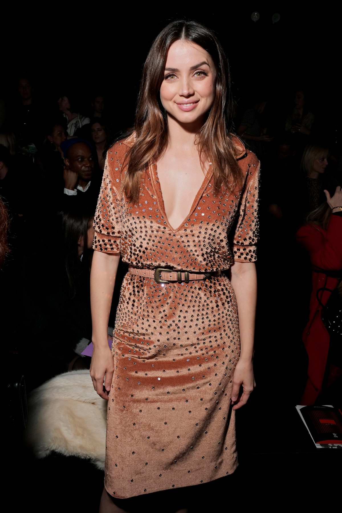 ana de armas at bottega veneta show during new york fashion week in new york city. Black Bedroom Furniture Sets. Home Design Ideas