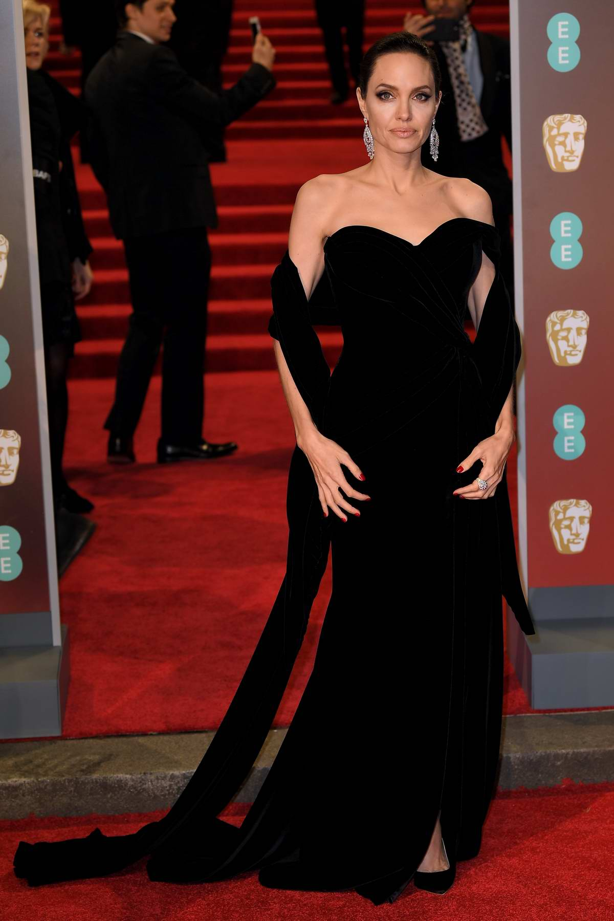 Angelina Jolie attends 71st British Academy Film Awards at Royal Albert Hall in London