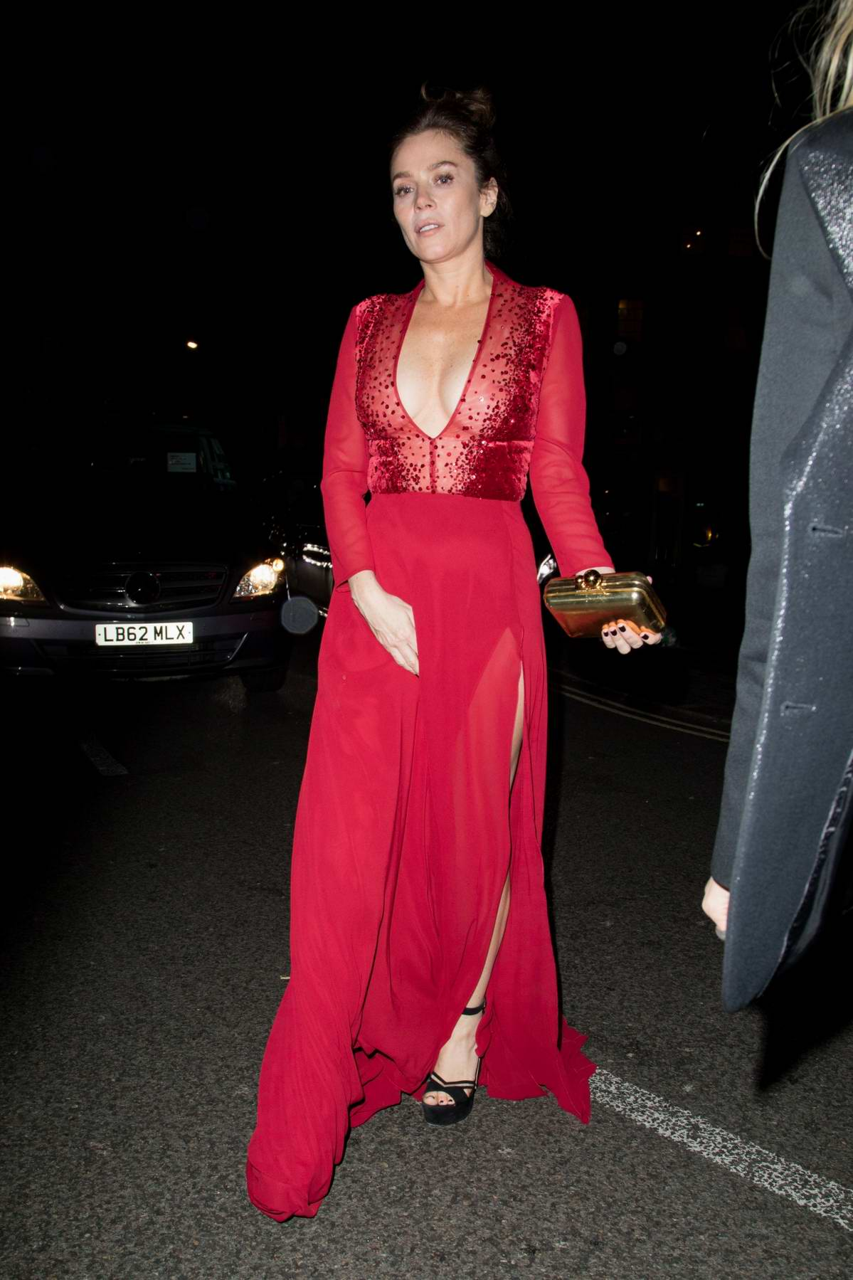 Anna Friel arrives at the Warner Brother after-party at Freemasons in London