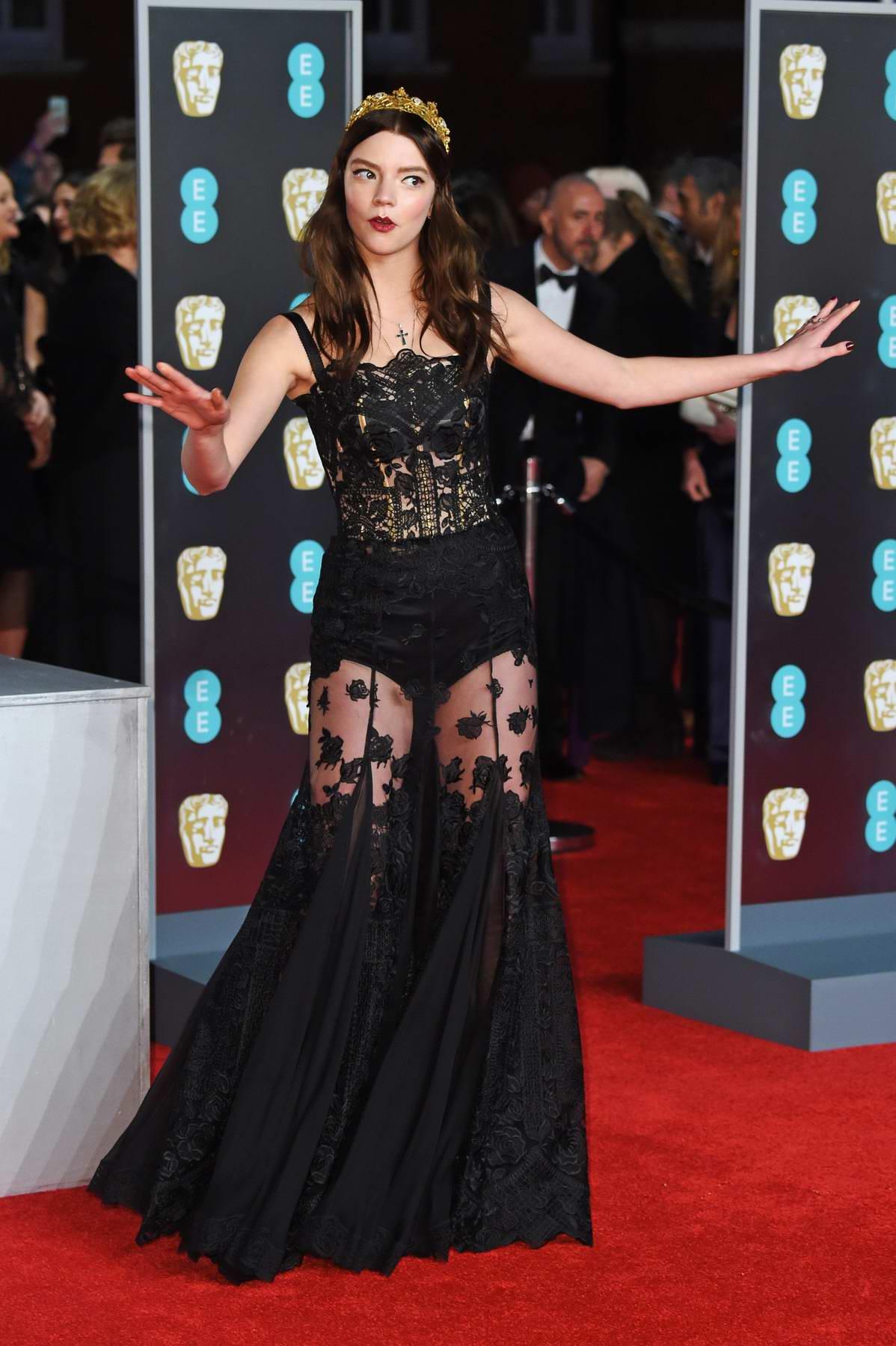 Anna Taylor-Joy attends 71st British Academy Film Awards at Royal Albert Hall in London