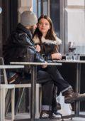 Anya Taylor-Joy and Eoin Macken seen outside a restaurant in Philadelphia, Pennsylvania