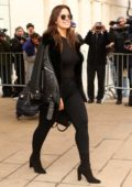 Ashley Graham leaving the Michael Kors Show, Fall 2018 at Vivian Beaumont Theatre at Lincoln Center in New York City