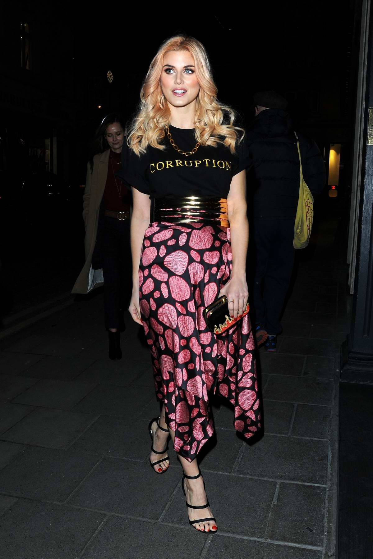 Ashley James attends Global Gift Celebration Dinner at Quaglinos in London