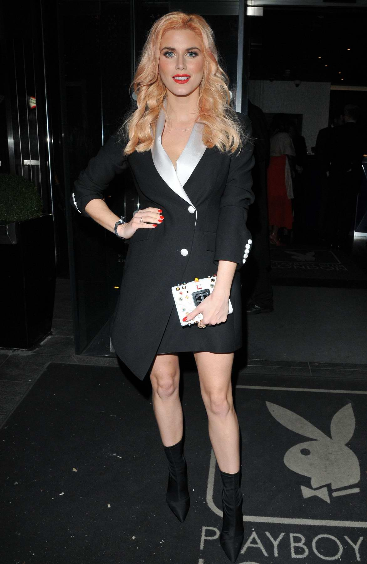 Ashley James attends The White Managmeant Party at Mahiki in London