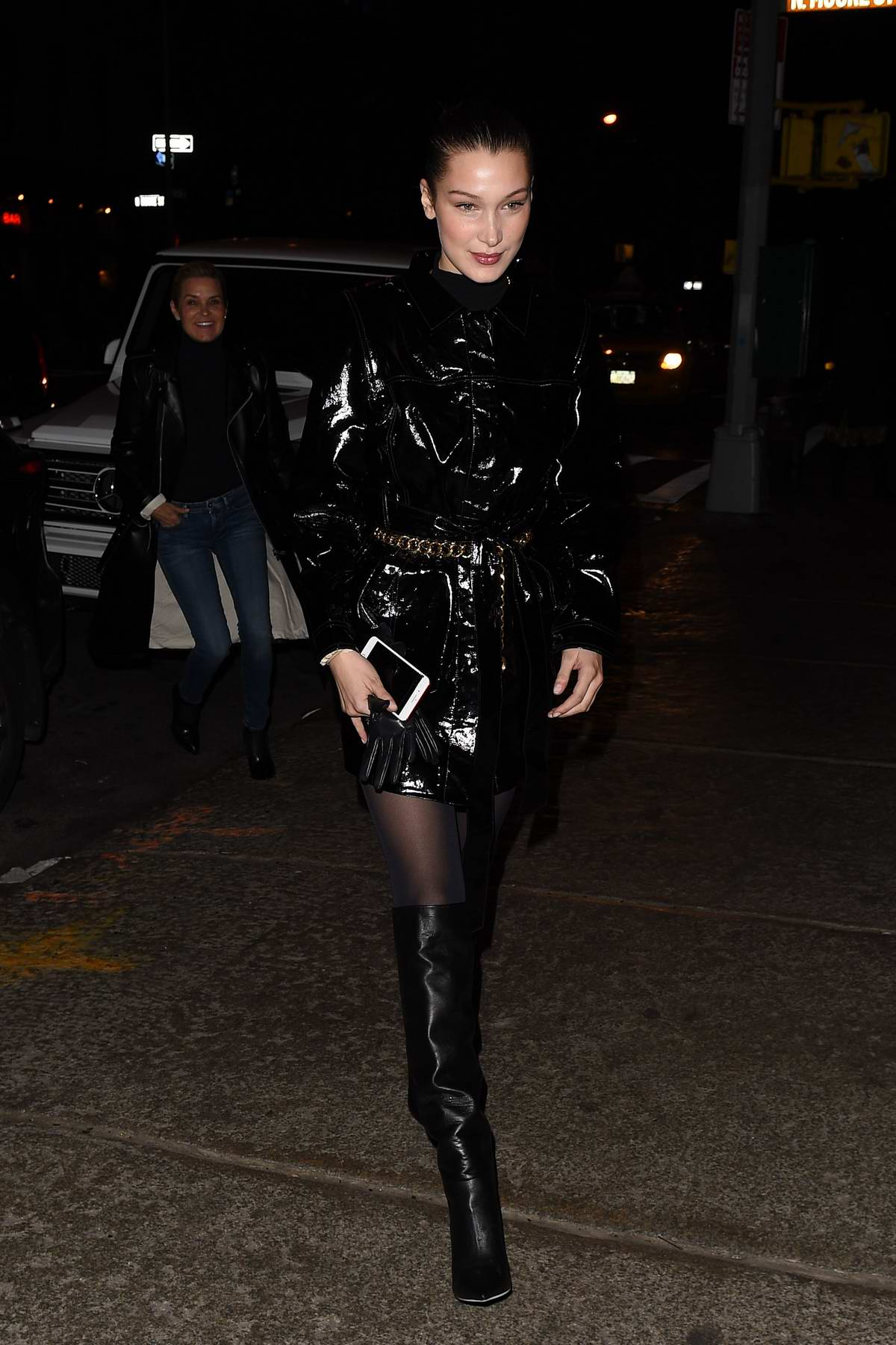 Bella Hadid grabs Valentine's Day dinner with mother Yolanda at Mr Chow in New York City