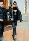 Bella Hadid leaves her apartment as she heads for an event in New York City