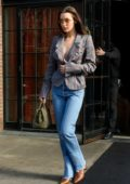 Bella Hadid leaves The Bowery Hotel as she heads for the Anna Sui show in New York City