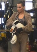 Bella Hadid spotted during a boxing practice at the local gym in New York City