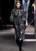 Bella Hadid walking for Alberta Ferretti Fall Winter Show during Milan Fashion Week in Milan
