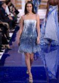 Bella Hadid walks for Ralph Lauren Show, Fall Winter 2018 during New York Fashion Week in New York City