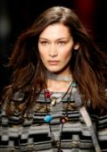 Bella Hadid walks for the Missoni Show, Fall Winter 2018 during Milan Fashion Week in Milan, Italy