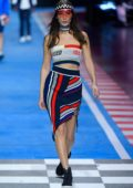 Bella Hadid walks for the Tommy Hilfiger Show, Spring Summer 2018 during Milan Fashion Week in Milan, Italy