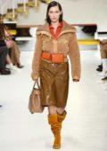 Bella Hadid walks for Tod's Fall Winter Show during Milan Fashion Week in Milan, Italy