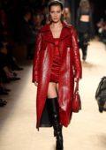 Bella Hadid walks the Roberto Cavalli Show, Fall Winter 2018 during Milan Fashion Week in Milan, Italy
