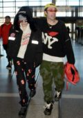 Bella Thorne and Mod Sun spotted arriving to LAX airport, Los Angeles