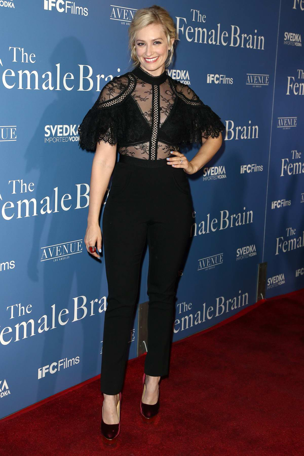 Beth Behrs at 'The Female Brain' premiere held at Arclight Theatre in Hollywood, Los Angeles