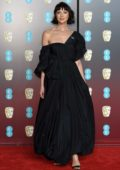 Caitriona Balfe attends 71st British Academy Film Awards at Royal Albert Hall in London