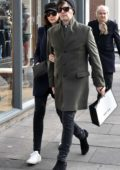 Caitriona Balfe spotted out and about with fiance Tony McGill in Dublin, Ireland