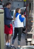Caroline Wozniacki and fiance David Lee grab a last-minute bite at a donut van in New York City