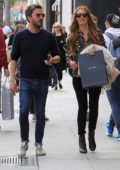 Cat Deeley shops for Valentine's Day gifts with her husband Patrick Kielty on Rodeo Drive in Beverly Hills, Los Angeles