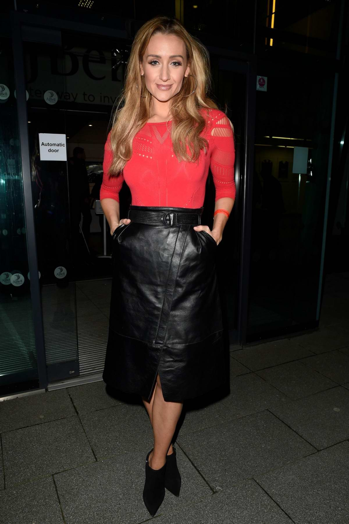 Catherine Tyldesley at AJ Bell Stadium in Manchester, UK
