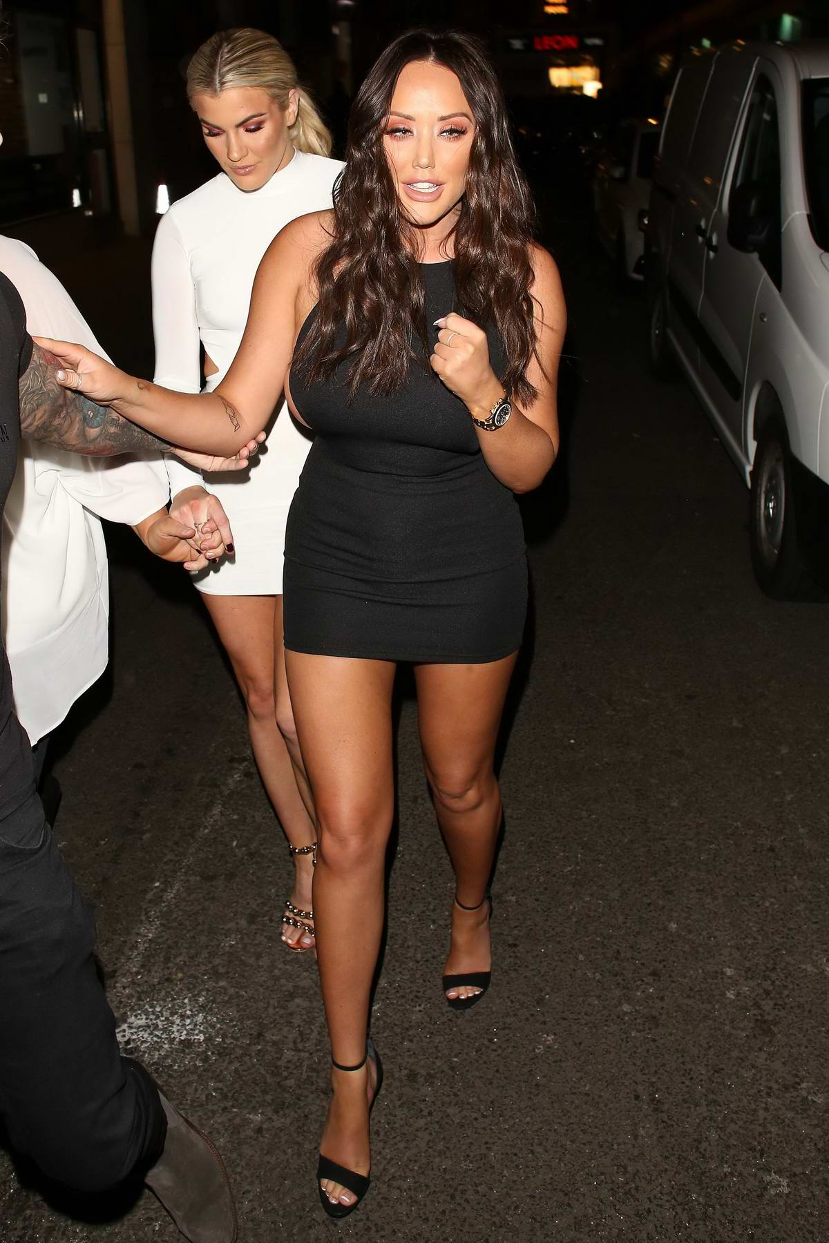 Charlotte Crosby arrives at the In The Style Valentines Party at Libertine Nightclub in London