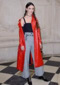 Charlotte Le Bon attends Christian Dior Show, fall winter 2018-2019 during Paris Fashion Week, France