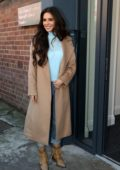 Cheryl Tweedy dons a brown trench coat as she arrives at The Prince's Trust Cheryl's Trust in Newcastle, UK