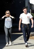 Chloe Grace Moretz and Brookyln Beckham out for a walk after lunch at Good Neighbor restaurant in Studio City, Los Angeles