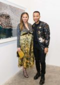 Chrissy Teigen at the Nabil Elderkin Exhibition at there-there gallery in Los Angeles