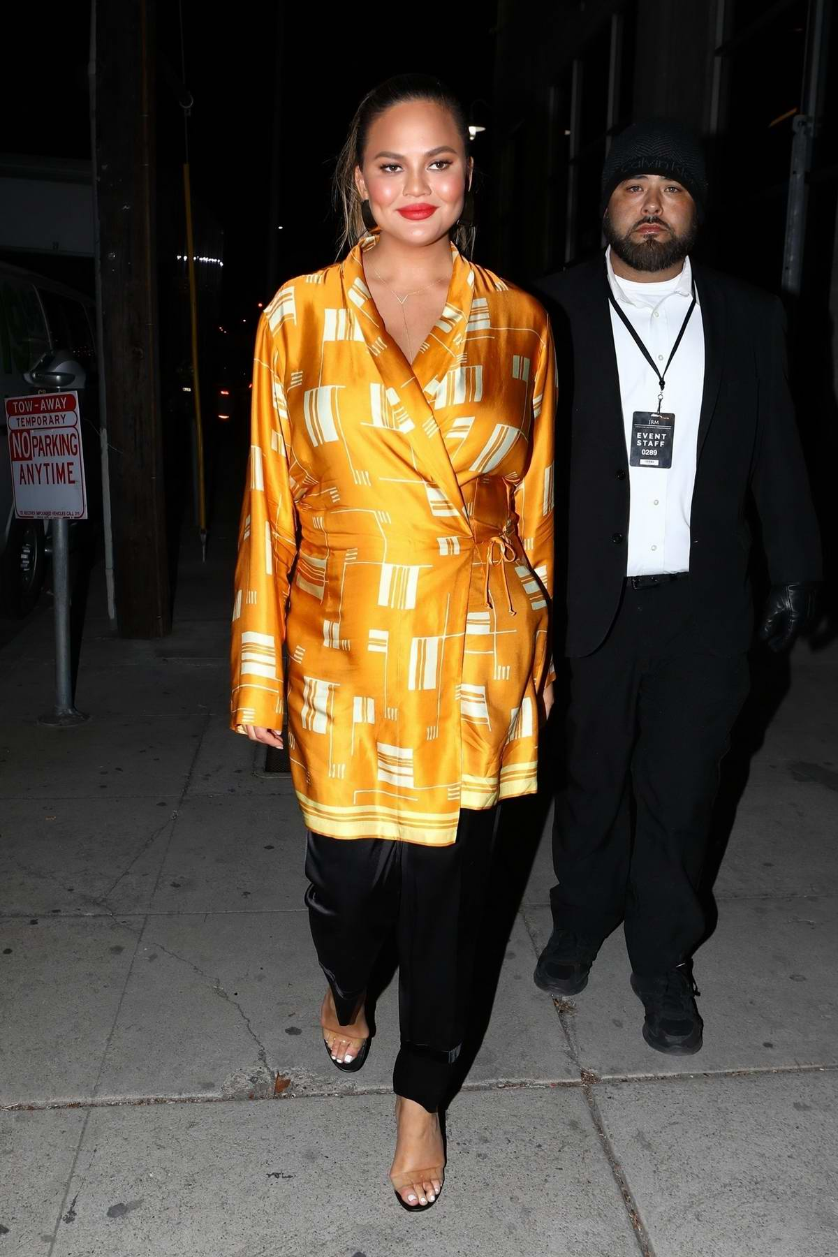 Chrissy Teigen leaves the Create & Cultivate LA Conference in Downton Los Angeles