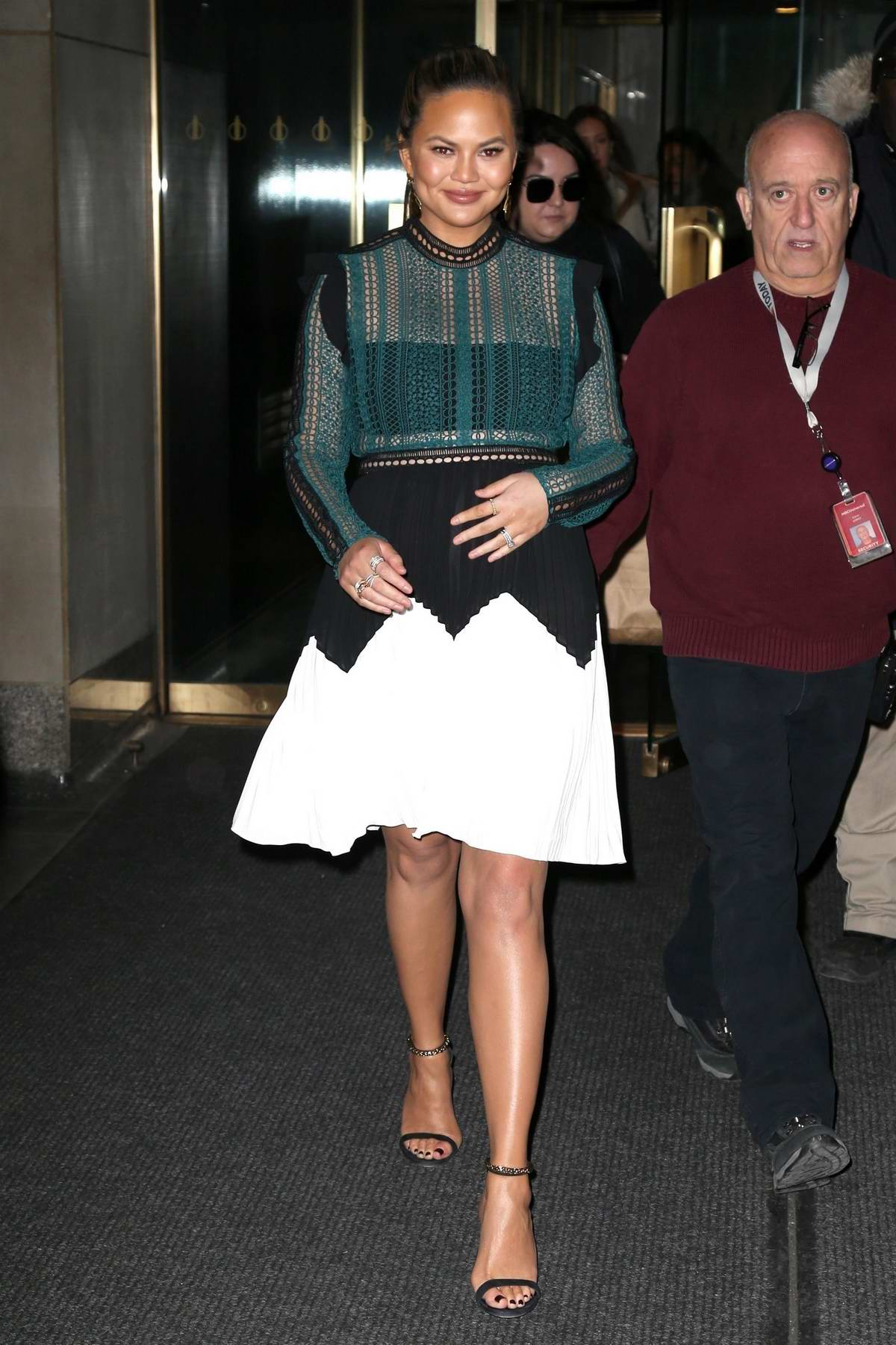 Chrissy Teigen spotted as she leaves NBC Studios after visiting 'Today Show' in New York City