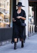 Chrissy Teigen steps out in an all black ensemble in New York City