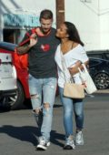 Christina Milian and boyfriend Matt Pokora spotted out as they shops for sporting goods at Big 5 in Los Angeles