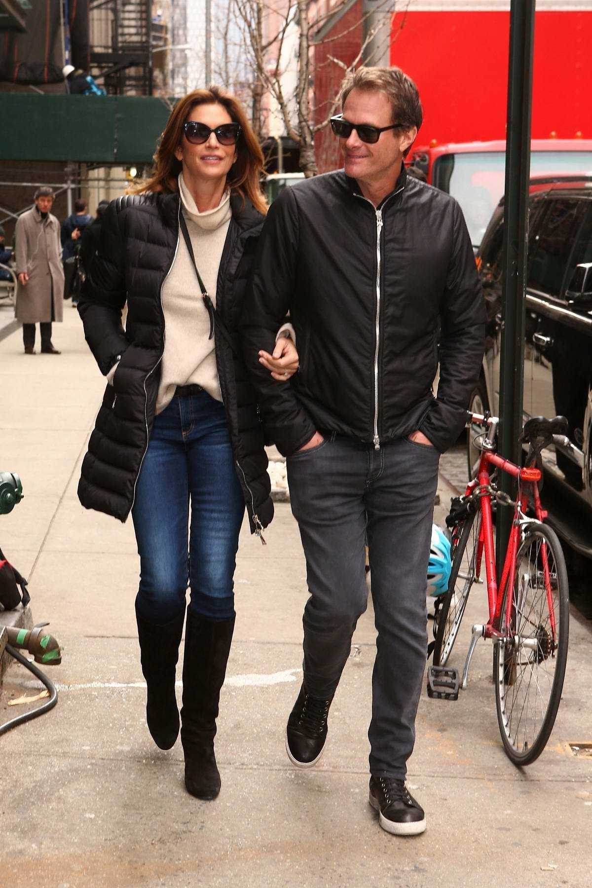 Cindy Crawford and Rande Gerber spend Valentine's Day together in New York City