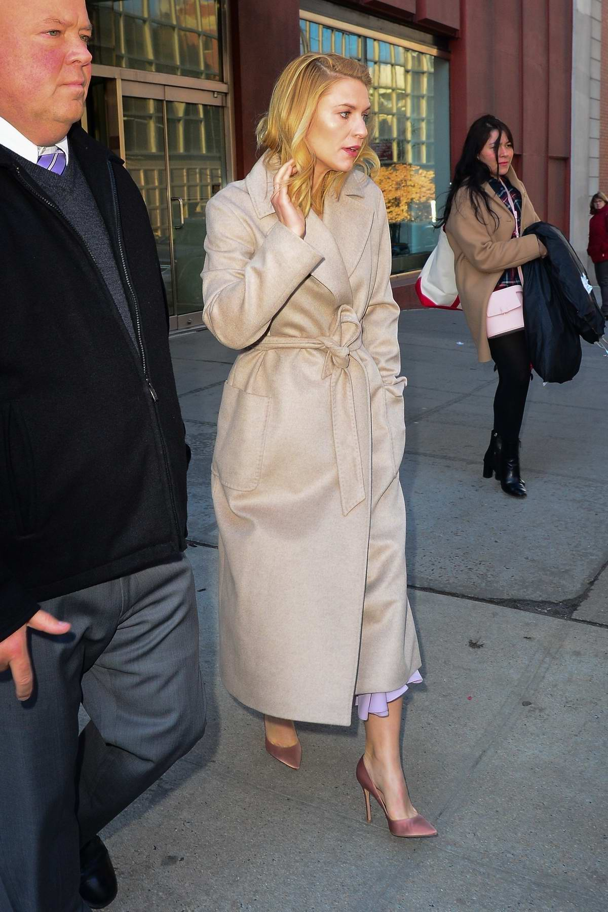 Claire Danes leaving 'CBS Morning Show' after doing a promo event in New York City