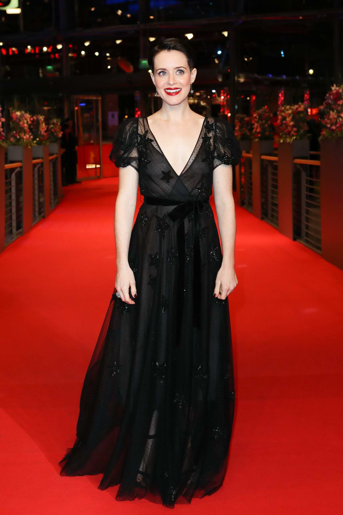 Claire Foy attends 'Unsane' premiere during 68th Berlin Film Festival in Berlin, Germany