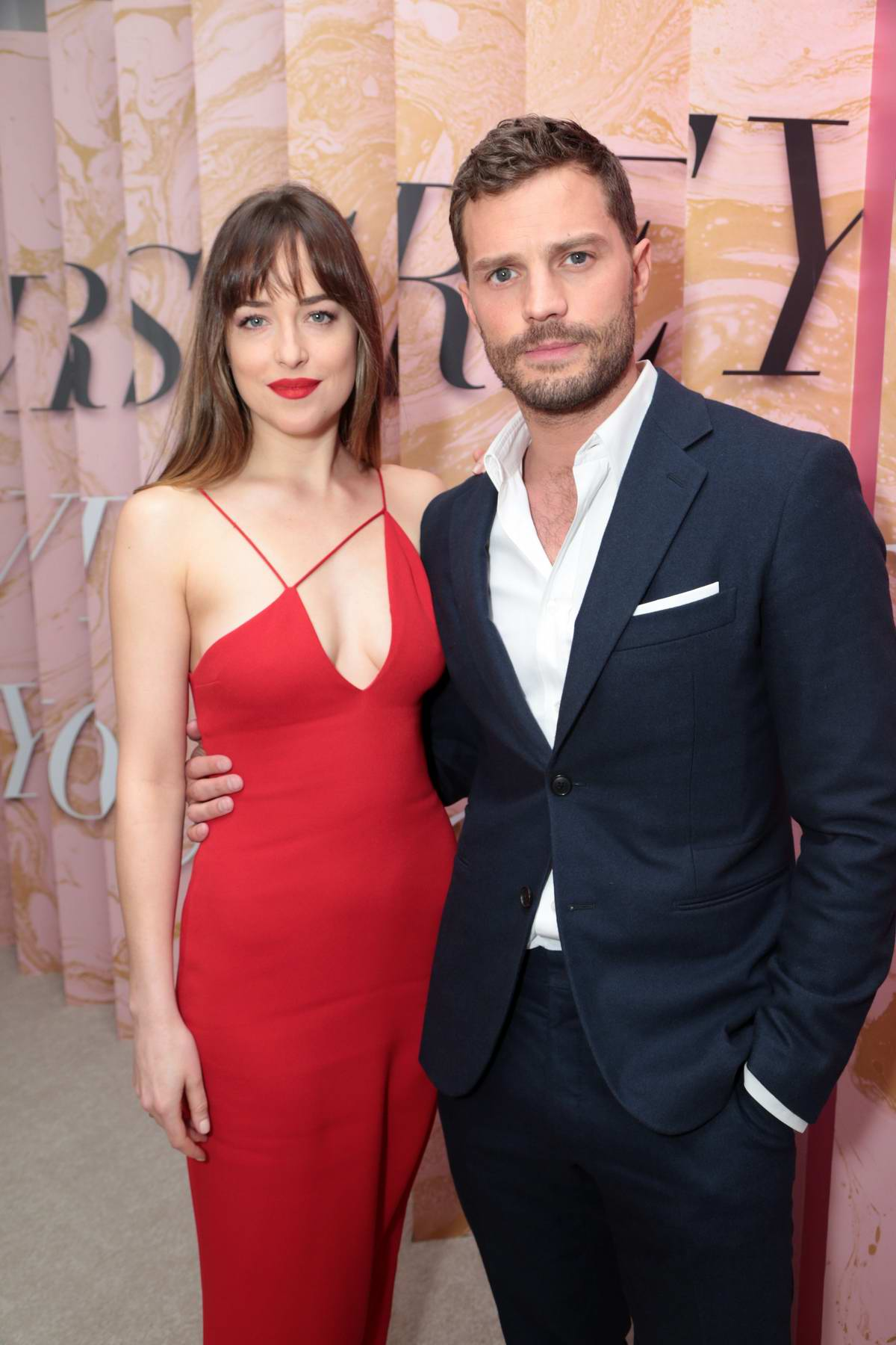 Dakota Johnson and Jamie Dornan attends 'Fifty Shades Freed premiere in Los Angeles