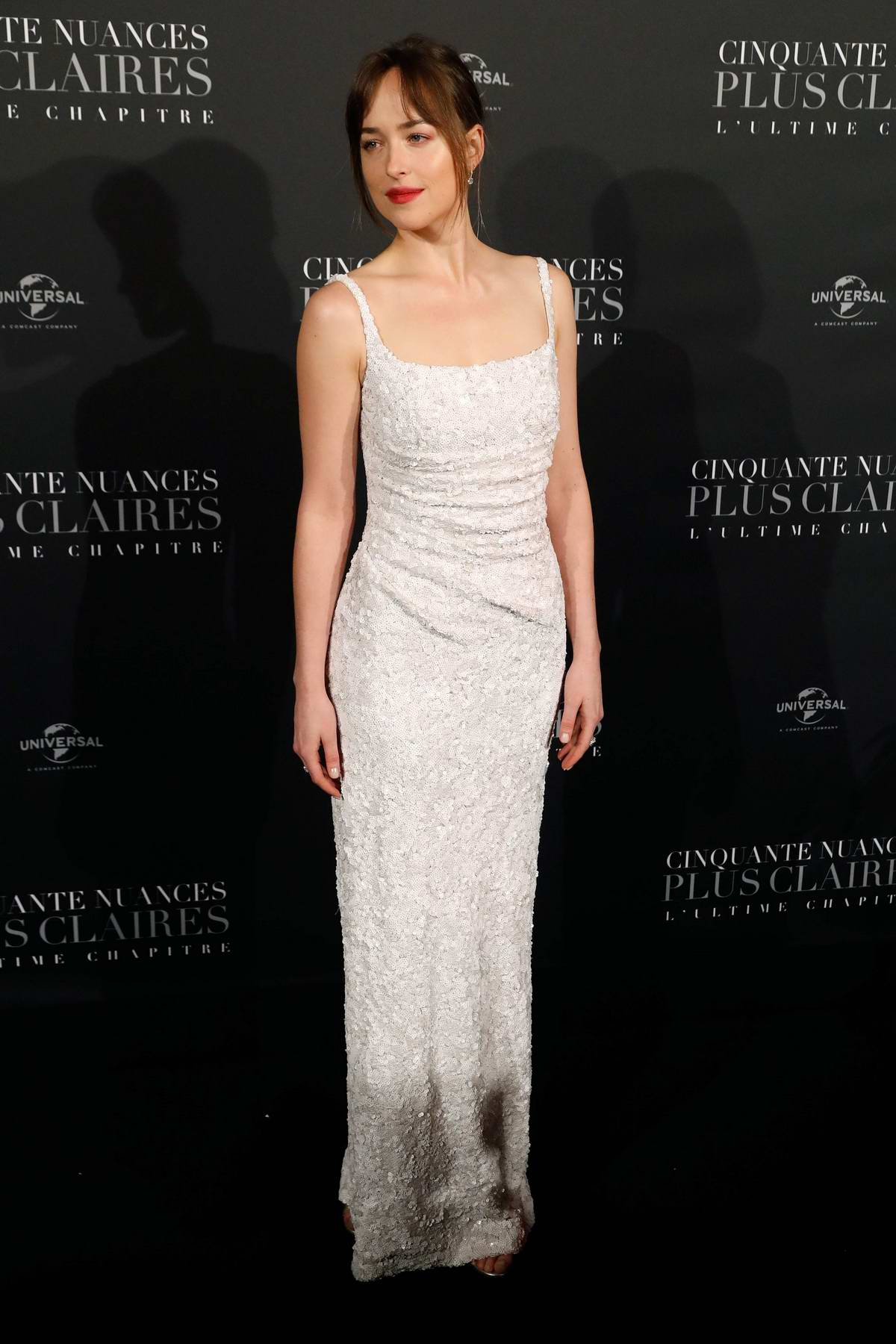 Dakota Johnson attends 'Fifty Shades Freed' premiere at Salle Pleyel in Paris, France