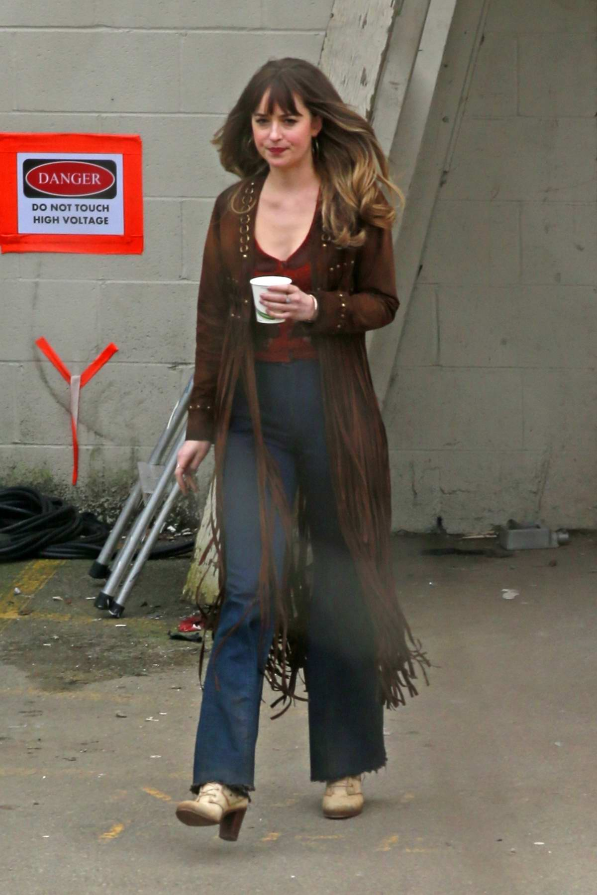 Dakota Johnson spotted on set of 'Bad Times at the El Royale' in Burnaby, British Columbia, Canada