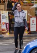 Danielle Lloyd leaves her home, later stopped at a gas station in Sutton Coldfield, UK