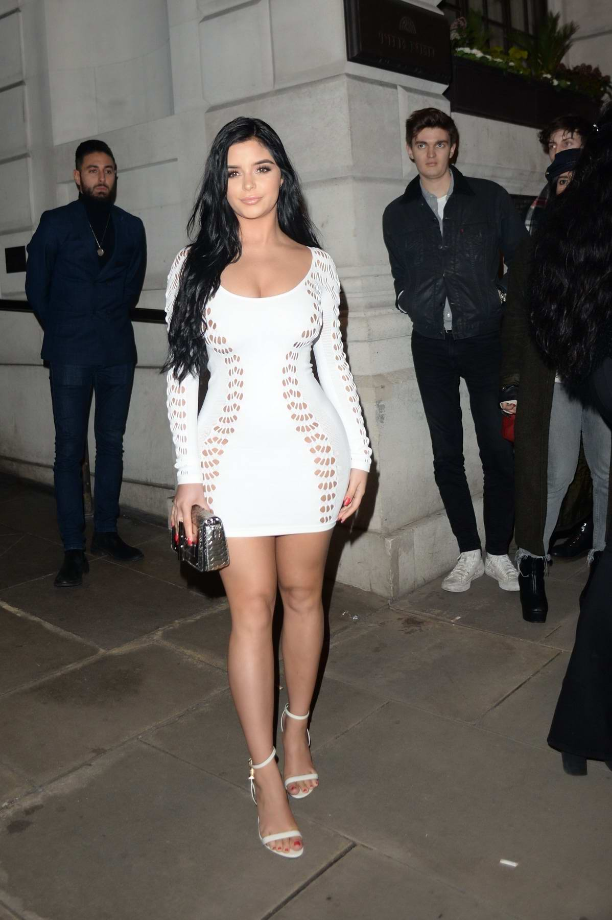Demi Rose Mawby attends Wonderland Magazine x MTV Party during London Fashion Week A/W 2018 in London