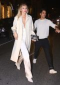Devon Windsor and boyfriend Johnny Dex grabs dinner with friends at Cipriani during New York Fashion Week in New York City
