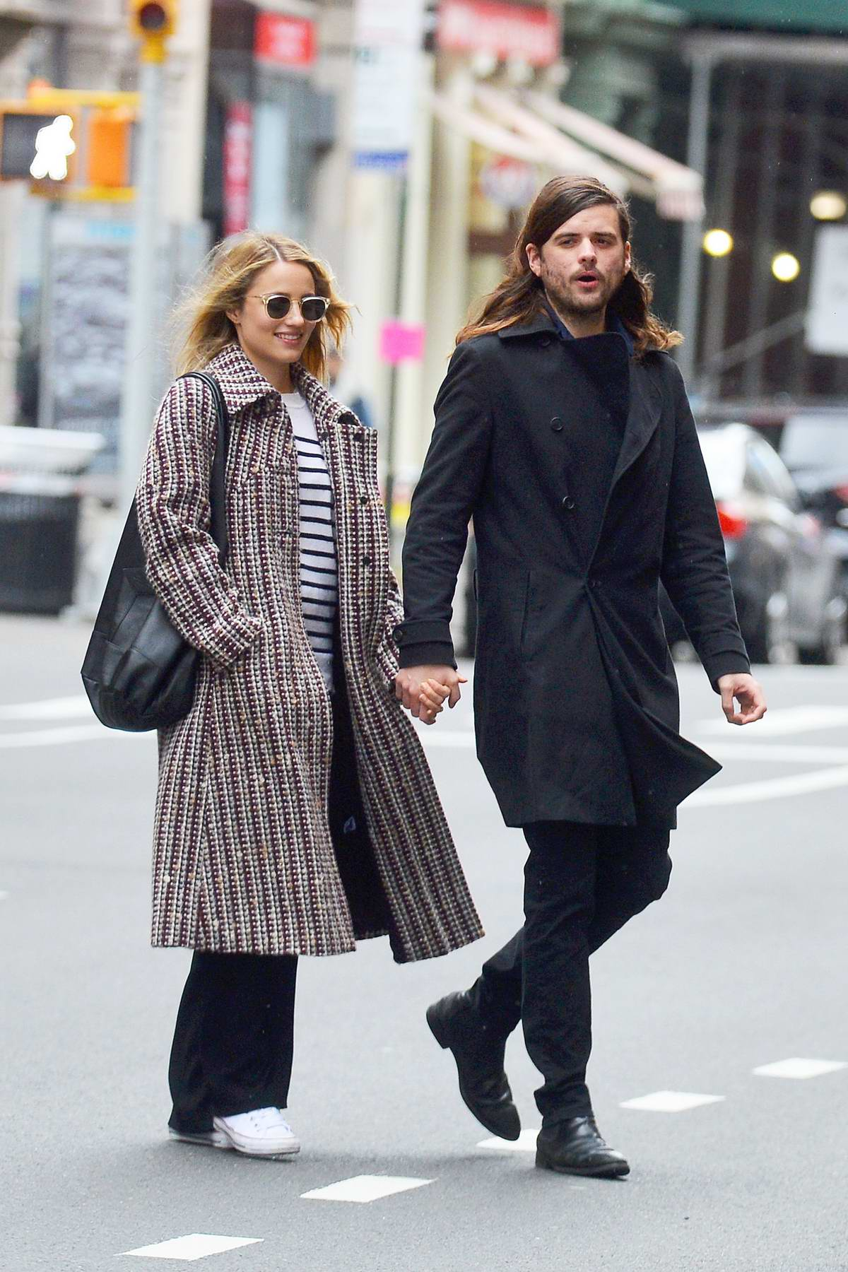 Dianna Agron and Winston Marshall are spotted on a stroll in New York City