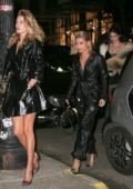 Doutzen Kroes, Kendall Jenner and Hailey Baldwin heads to dinner at Cipriani in New York City
