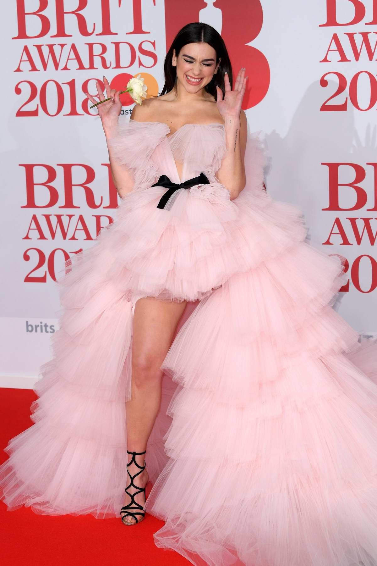 Dua Lipa attends the 38th Brit Awards, held at the O2 Arena in London