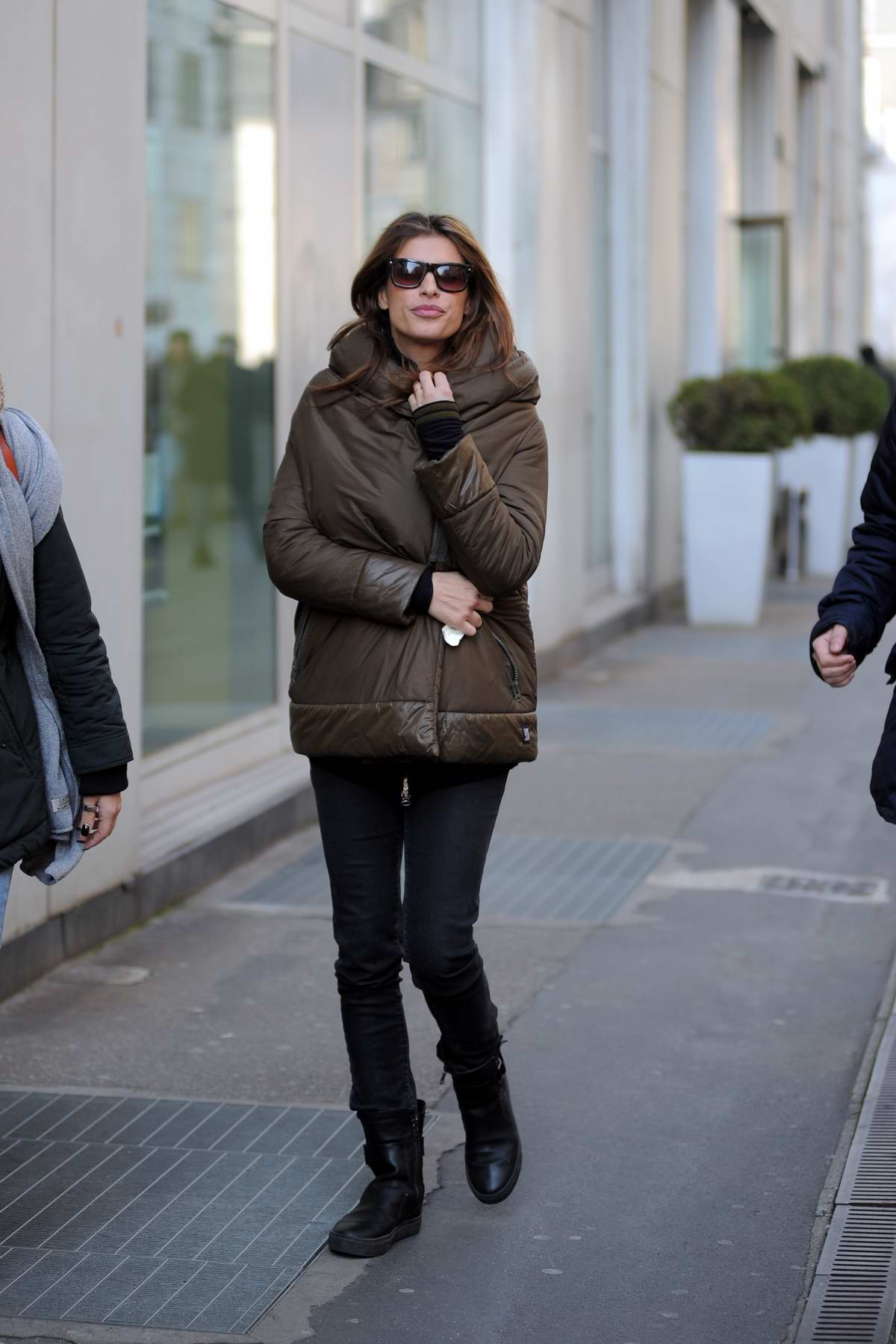 Elisabetta Canalis spotted while out and about in Milan, Italy